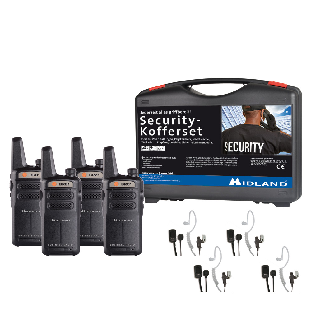 4er Security Kofferset BR01 mit Security Headset_4032661131546_MIDLAND_#3