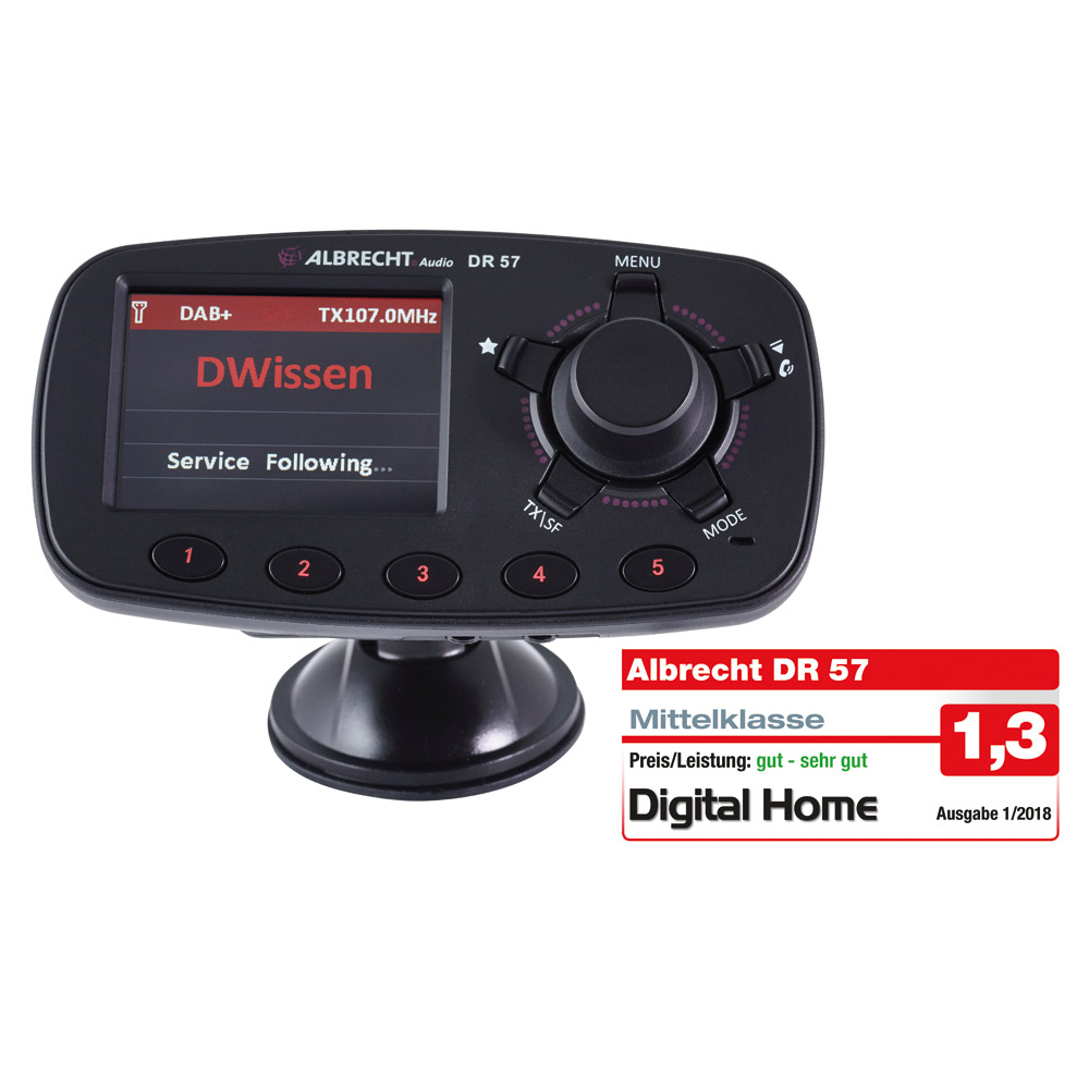 albrecht dr 57 dab autoradio adapter mit bluetooth. Black Bedroom Furniture Sets. Home Design Ideas
